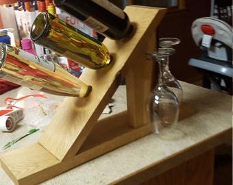 Table top wine rack made by my loving husband.