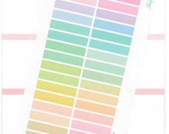 34 blank MDN header stickers, ECLP headers, pastel rainbow, blank header, functional planner stickers, planner decoration, tasks, HDR1