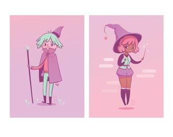 Witch and Wizard - 5x7 Prints