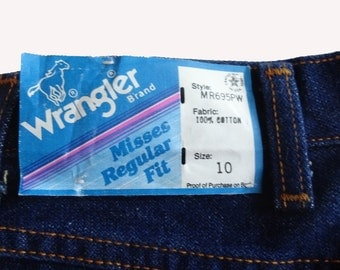 Vintage Wrangler jeans 10 1970's denim pants NOS new with tags high waist straight leg