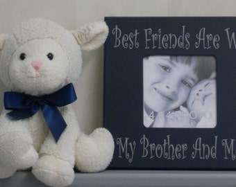brothers frame brother gift kids decor idea navy boy decor navy bedroom wall decor navy blue best friends are we my brother and me