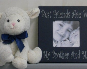 Brothers Frame, Brother Gift, Kids Decor Idea, Navy Boy Decor, Navy Bedroom Wall Decor, Navy Blue - Best Friends Are We My Brother And Me