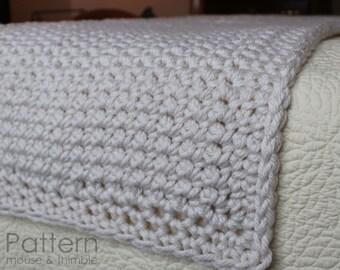 Super Bulky Bed Runner Full/Queen/King - Beginner Crochet PATTERN PDF 9676