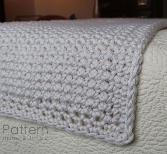 Super Bulky Bed Runner Full/Queen/King Beginner Crochet