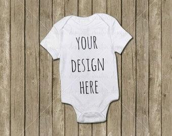 Onesie Mockup, Bodysuit Mockup, Baby Mockup, Product Background, T-Shirt Mockup