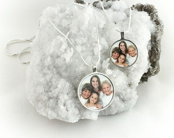 Bezel Round Photo Personalized Photo Charm