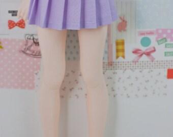 BJD Pleated Skirt - Slim MSD Minifee or SD - Solid Light Purple