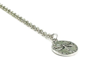 Dragonfly Necklace Silver Chain
