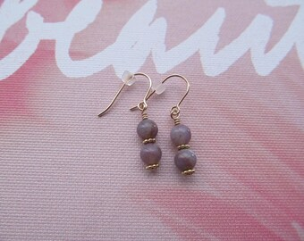 Indian agate gold filled earrings - Dangle earrings- Gold filled earrings