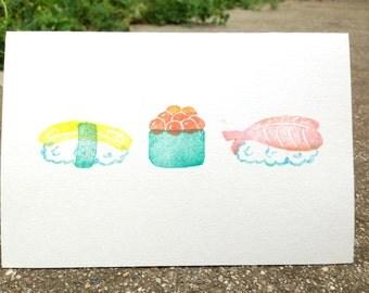 Stamped Sushi Cards (set of 3)