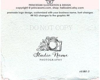 1197-7 photography logo, camera logo, whimsical camera, doodle camera logo design, photographer watermark, camera art, business branding