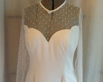 Vintage Bianca bridal gown white wedding gown B line wedding gown long wedding gown vintage bridal size Medium