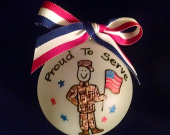 Military,military gifts,military ornaments,gifts for veterans,veterans gifts,army,navy,marines,coast guard,airforce,air force,service member
