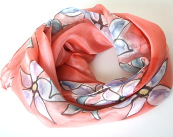 Women's scarves, Hand painted silk scarves, Exclusive scarves, Handmade scarves, Fashion scarves, Spring summer scarves - Luxury scarves