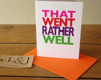 Congratulations card - graduation card - well done - congrats - driving test - card for daughter - congratulations gift - exams card