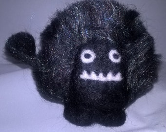 Your own little bit of fluff! Needle felted fluff monster