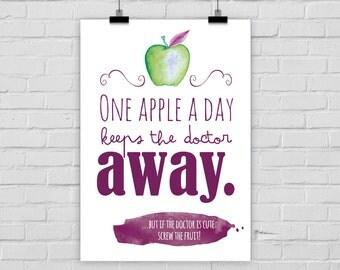 fine-art print poster AN APPLE a DAY