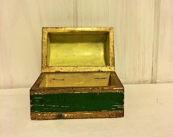 Italian Icon Box / Vintage Wooden Ring Box / Vintage Cufflink Box & Cufflink box | Etsy Aboutintivar.Com