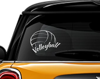 Volleyball decal, sports decal, window sticker, FREE SHIPPING, sticker decal, White vinyl decal, laptop decal, home decor decal #267