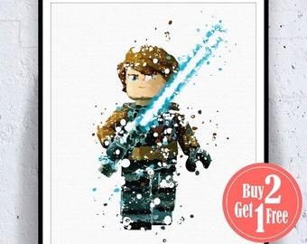 BIG SALE: Lego Anakin star wars Anakin Lego, lego star wars poster, Anakin print, star wars decor, star wars Anakin, Star Wars Print