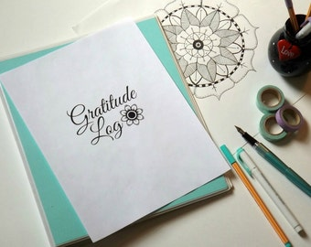 Gratitude Log - Instant Download