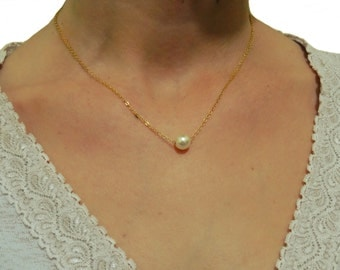 Opal ball necklace, Dainty gold necklace, Opal necklace, White opal necklace, Tiny opal necklace, Bead necklace, Gold necklace