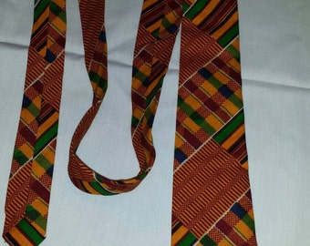 Afican Clothes Kente print style #1 Tie and pocket square