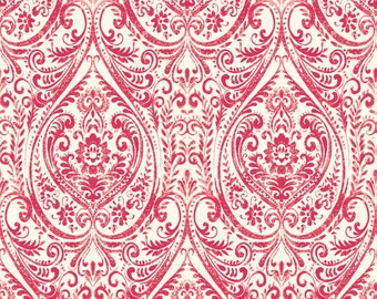 A Street Prints Gypsy Red Damask Wallpaper SZ001865