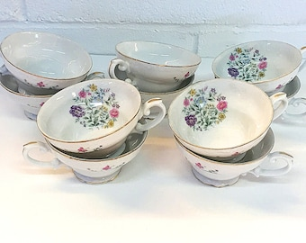 Yamaka China Spring Time Teacups China 1534 Japan Floral Flowers Tea Cups 10 Available