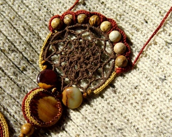 An autumn handmade necklace