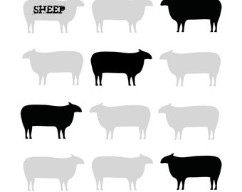 Sheep Love graphic print
