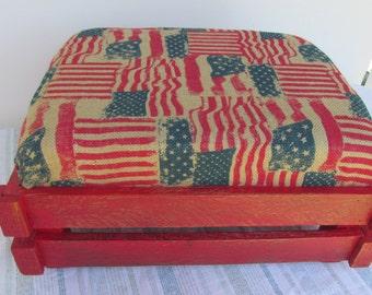 Shabby Chic Footstool, Rustic Ottoman, Ottoman, Rustic Furniture, Reclaimed  Wood Footstool,