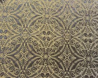 "Black Lili Burnout Damask Geometric Stretch Velvet Fabric -Sold By The Yard- 60"""