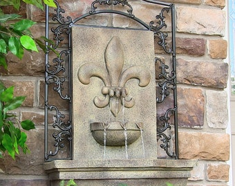 Outdoor indoor wall water fountain for garden yard decor or home decor water feature tabletop