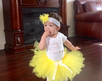 """DADDY""""S LITTLE CHICK, Easter Day Outfit"""