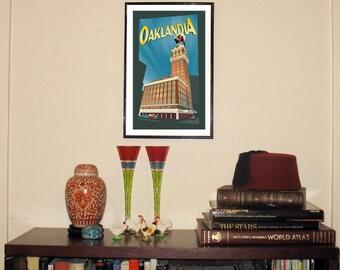 "Oaklandia 11""w x 17""h Print"
