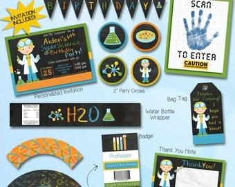 Science party invitation / digital invitation