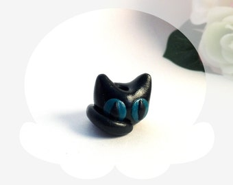 Cat dreadlock bead