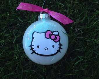 Hello Kitty Inspired Ornament