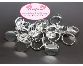 20 media rings tray 14mm silver