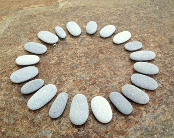Flat Thin Stones, Flat Beach Stones, Thin Beach Pebbles, Small Stones, Stone Buttons, Smooth Pebbles, Sea Stones, Small Pebbles