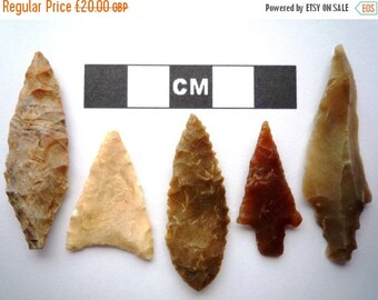 SALE 5 x High Quality Neolithic Arrowheads - Selection of Styles - 4000BC - (I016)