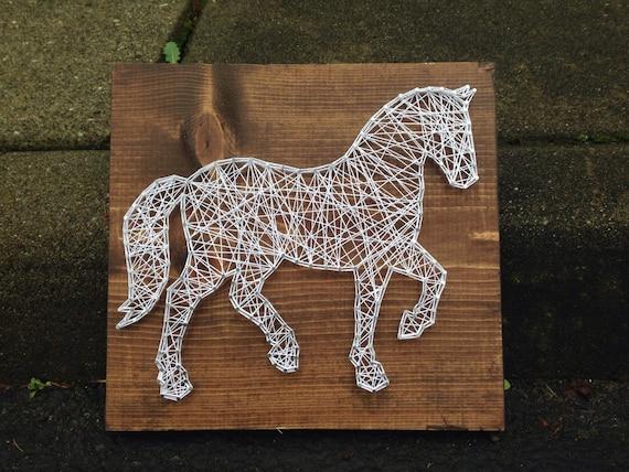 made to order horse string art. Black Bedroom Furniture Sets. Home Design Ideas
