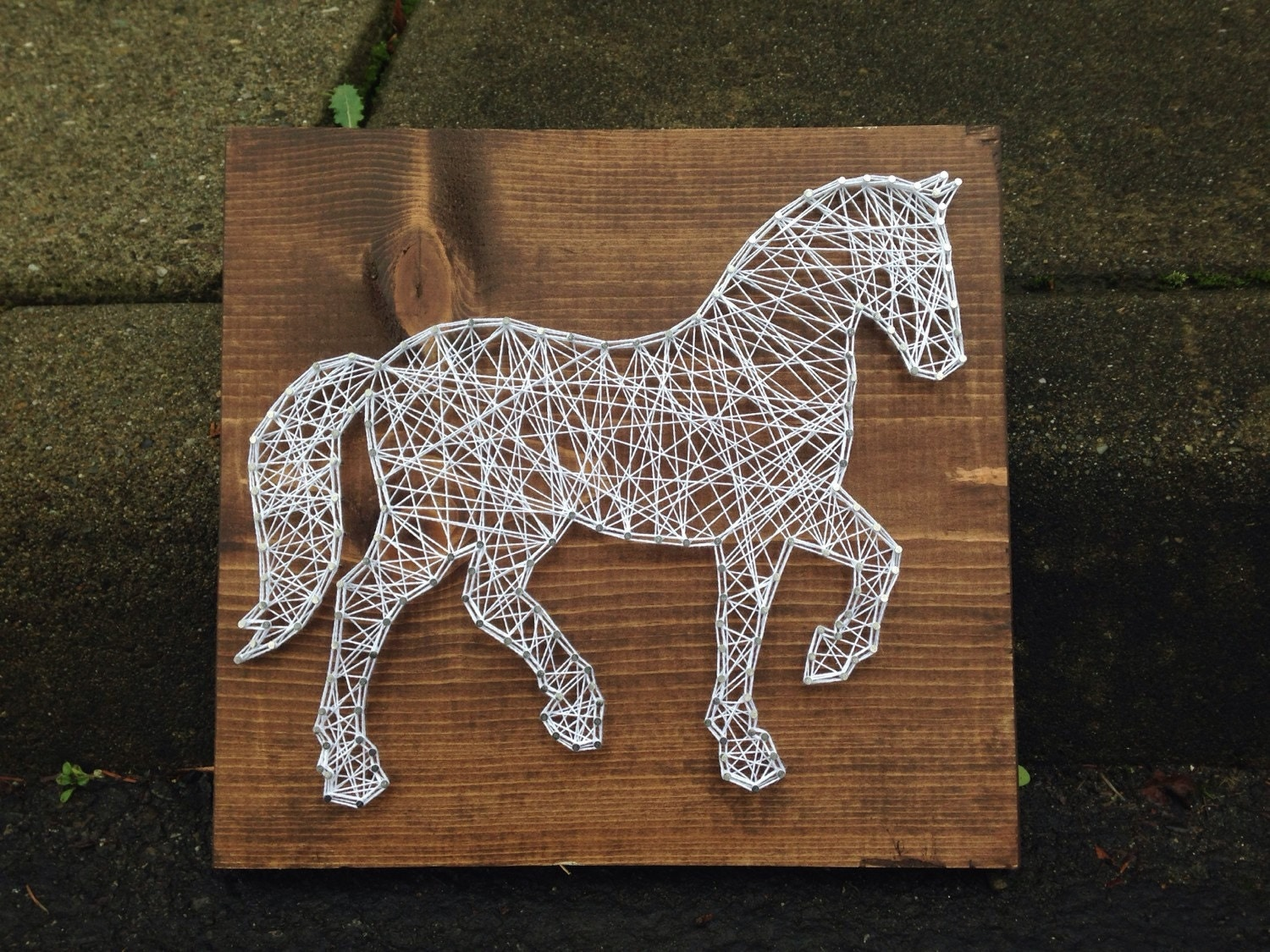 Horse arts and crafts - Made To Order Horse String Art