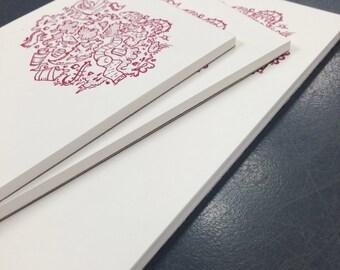 letterpressed notepad