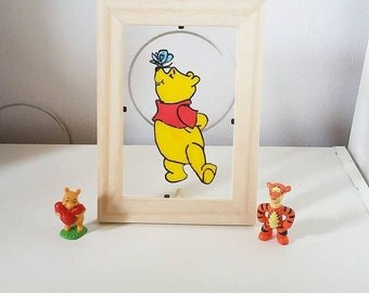 Frame stained glass: Winnie the Pooh