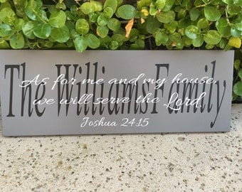 Biblical wall art,As for me and my house we will serve the Lord, wood scripture sign,Joshua 24:15,bible verse wall decor