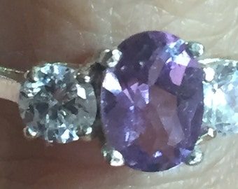 Sale!!! Perfect Sterling Amethyst Ring! 925
