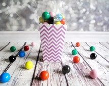 12 Purple Chevron Popcorn Boxes. Baby Shower. Bridal Shower. Wedding, Birthday Party. Treat Boxes. Treat, Favour Boxes, Candy Buffet