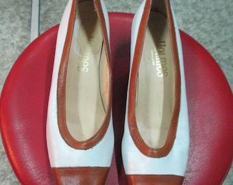 """Scarpe vintage della """"Holmes"""" England/Bicolore/Vintage shoes/made in England by Holmes/ white and brown"""